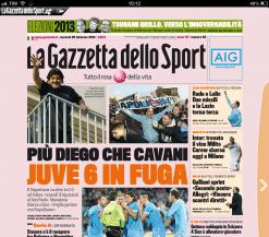 Cover Gazzetta 26 Febbraio 2013